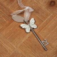 SOPHIA KEY - WHITE BUTTERFLY DESIGN & ENGRAVING PLATE - 21 PRODUCT CODE: SP229821