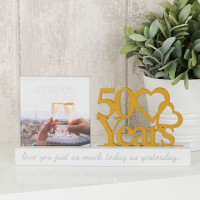 "4"" X 4"" - CELEBRATIONS CUT OUT PHOTO FRAME - 50 YEARS PRODUCT CODE: WG100750"