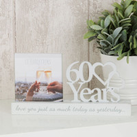 "4"" X 4"" - CELEBRATIONS CUT OUT PHOTO FRAME - 60 YEARS PRODUCT CODE: WG100760"