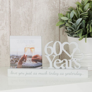 """4"""" X 4"""" - CELEBRATIONS CUT OUT PHOTO FRAME - 60 YEARS PRODUCT CODE: WG100760"""