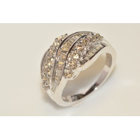 9ct White Gold Large Cluster Diamond Ring GLB4092
