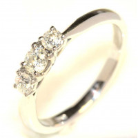 18ct White Gold Three Stone Diamond Ring CTS43PTS