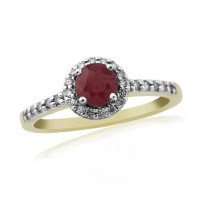 9ct Yellow Gold Ruby and Diamond 20pts Ring DRR1330