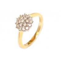18ct Gold (0.40pts) Diamond Cluster Ring GL5251