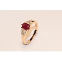 9ct Gold Ruby and Diamond Ring GLR5245-9