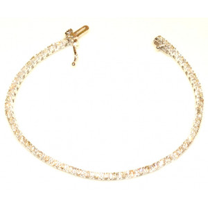 9ct White Gold Diamond Tennis Bracelet 2.10ct