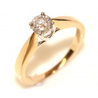 9ct Gold Diamond Single Stone Ring 23 Points