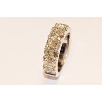 9ct White Gold Alternate Baguette Diamond Ring RB6174A