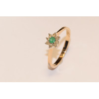 9ct Gold Diamond and Emerald Ring RER131DA-9