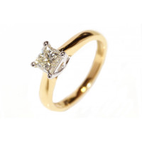 18ct Gold Single Stone Princess Cut Diamond 1.02ct Ring RP5615