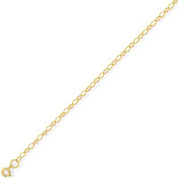 9ct Gold 18in  Oval Belcher Chain CN015E