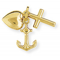 9ct Gold Faith Hope & Charity Charm