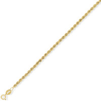 9ct Gold 18'' Hollow Rope Chain