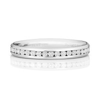 18ct White Gold Diamond Channel Set Wedding Band WQ229W