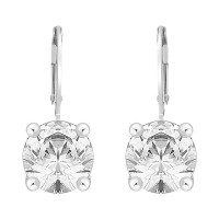 Single Stone Swarovski Zirconia Continental Earrings