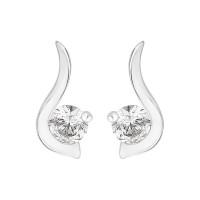 Single Stone Twirl Stud Earrings (0.60ct)