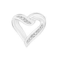 Heart Pendant With Part Channel Setting (0.25ct)
