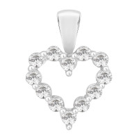 Silver Claw Set With Swarovski Zirconia Heart Pendant (1.00ct)