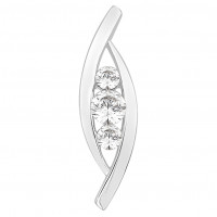Trilogy Pendant with Channel Setting (0.25ct)