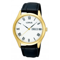 Lorus Gents G/P Leather Strap Watch