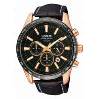 Lorus Rose Coloured Chrono Gents Watch