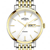 Rotary Windsor two tone Gold plated watch GB05301/01