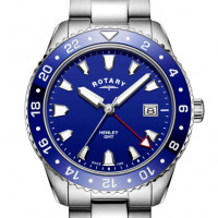 Rotary Gents Stainless Steel Blue Henley GB05108/05