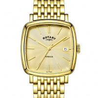 Rotary Men's Gold plated Windsor Cushion watch GB05308/03