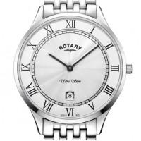Rotary Ultra Slim White Stainless Steel Watch GB08300/01