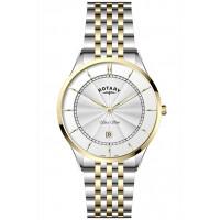 Rotary Ultra Slim White Stainless Steel Watch GB08301/02