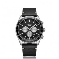 Rotary Black Henley Gents Chronograph Quartz GS05115/04