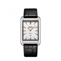 Rotary Cambridge Stainless Steel Shaped Strap Watch GS05280/02