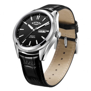 Rotary Gents Strap White Serrated Bezel Henley GS05380/04