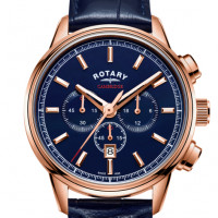 Rotary Cambridge Rose Gold Strap Watch GS05399/05
