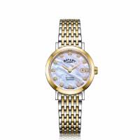 Rotary Windsor Ladies Two Tone Diamond Bracelet Watch LB05301/41/D