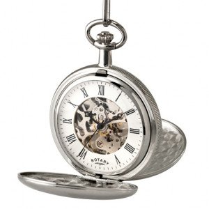 Rotary Gents Stainless Steel Mechanical Pocket Watch MP00726/01