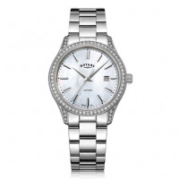 Rotary Oxford White Stainless Steel Quartz Watch LB05092/41