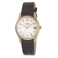 Rotary Ladies Black Strap Watch LS02368/41