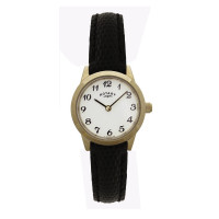 Rotary PVD Gold Plated Ladies Strap Watch