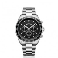 Rotary Black Henley Gents Chronograph Quartz GB05109/04