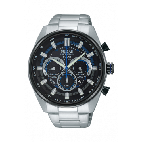 584975851 Pulsar Gents Solar Chrono Bracelet Watch PX5019