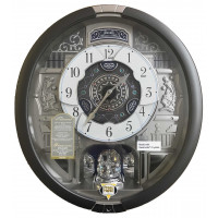Seiko Silver Marble Pattern Melodies In Motion Clock QXM366S