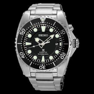 Seiko Prospex Diver's Kinetic Black Dial Watch SKA761P1