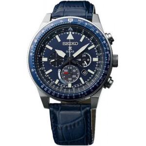 (Seiko Gents Sky Prospex Solar Strap Watch SSC609P1)