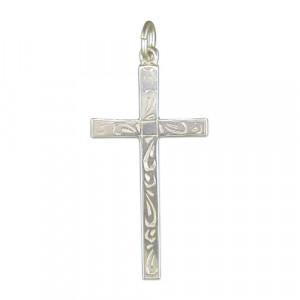 Silver Cross With Fancy Pattern