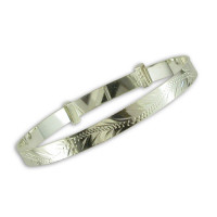 Silver Diamond Cut Baby Bangle