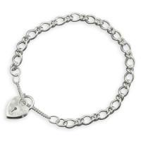 Silver Paddlock Charm Bracelet