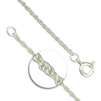 Silver Prince of Wales Chain 16""